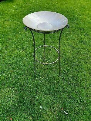 Handmade Antique Style Metal Bird Bath Stand Made From 8Mm Solid Steel Bar