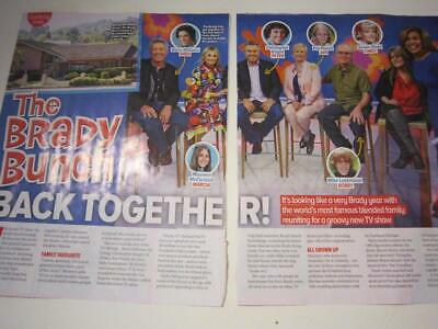 THE BRADY BUNCH*2 Page Magazine Clipping*A Very Brady Renovation HGTV*