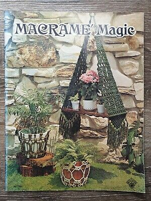 Macrame Magic 13 Projects H-234 Craft Course Book Vintage Printed 1975 Retro
