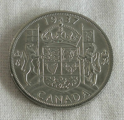 Edward Viii 1937 Canada Nickel Silver Proof Pattern Milled Edge 50 Cents - 18
