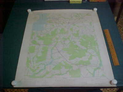 East New Market / Secretary , Maryland 1944 Geological Topographical Map 27 x 22