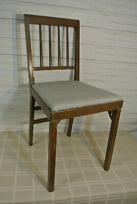 EXC! VINTAGE LEG-O-MATIC Auto-Fold FOLDING Wood CHAIR One Touch Open Close