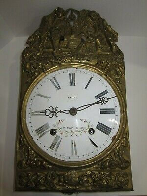 Antique French Morbier Comtoice Wall Clock