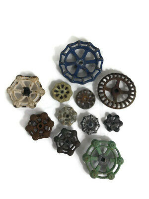 Vintage Lot Antique Plumbing Valve Knobs Handles Craft Steampunk Art Supplies