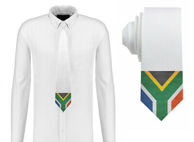 South Africa / South African Grunge Flag Mens Neck Tie Silk Polyester D52