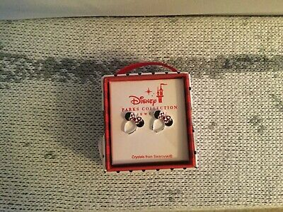 Disney Parks Minnie Mouse Bow Headband Earrings Crystals From Swarovski