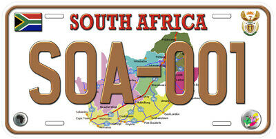 South Africa Any Text Personalized Novelty Aluminum Car License Plate