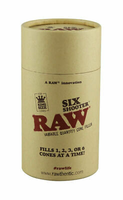 RAW Six Shooter King Size Cone Roller Fills 1,2,3,6 Cones at ONCE! Pre-Fill Cone