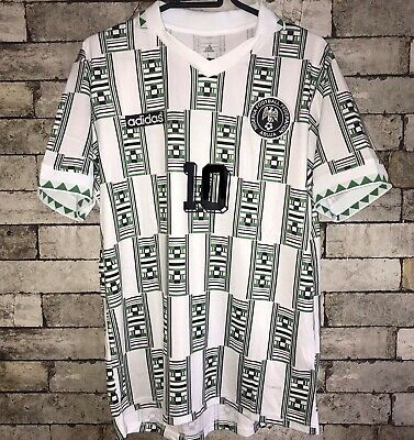 RETRO NIGERIA WORLD CUP 1994 AWAY SHIRT (Okocha #10)