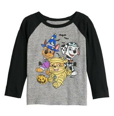 Paw Patrol Halloween Marshall Chase Rubble Toddler boys girls Shirt 2T 3T 4T 5T
