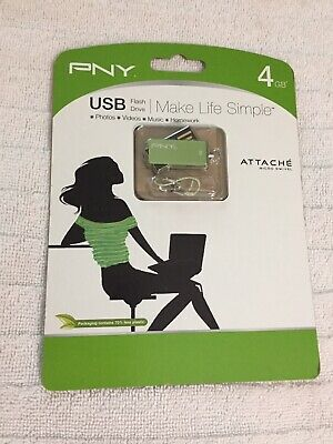 NEW SEALED Attache-4 32GB USB 2.0 Flash Drive Storage P-FD32GATT4BW-GE pen stick