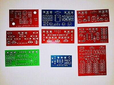 Pack Of 9 Guitar Effect PCB - Fuzz, Buffer, Distortion, Booster etc - PCB Only