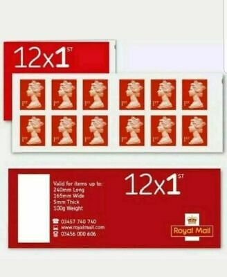 Royal Mail 20 x 1st class Book of 12 Letter Stamps: 240 stamps Self Adhesive
