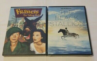 Francis The Talking Mule DVD & The Black Stallion DVD Factory Sealed NEW