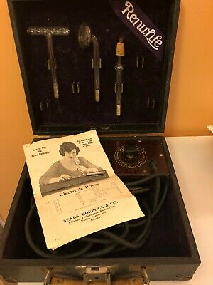 Vintage Medical Device 1920's Renulife Model M Violet Ray Generator Quack