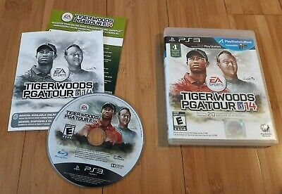 PS3 PlayStation 3 * Tiger Woods PGA Tour 14 * COMPLETE including DLC ONLINE PASS