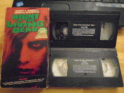 RARE OOP SCE Night of the Living Dead 2x VHS film HORROR zombie GEORGE A ROMERO