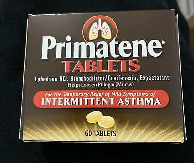 Primatene Asthma Tablets 60 CT Brand New Fresh EXP 04/21  Free Shipping