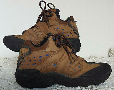 d3137334e9bb8 NICE! VINTAGE 90S Reebok Women's 7 Brown Leather Suede Retro Hiking ...