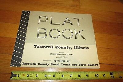 1955 Plat book of Tazewell County, Illinois  Rural Youth, Farm Bureau 47 Pages