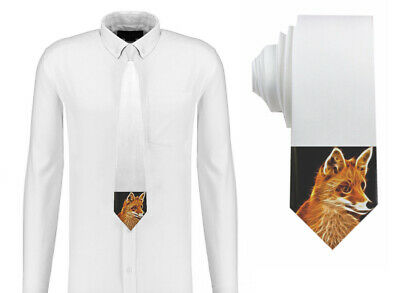 Electric Art - Sly Fox Mens Neck Tie Silk Polyester D47