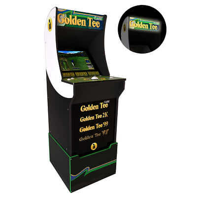 Golden Tee Classic Arcade Game Machine With Riser And Lighted Marquee