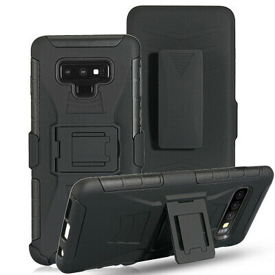 For Samsung Galaxy Note 9 8 5 4 3 Armor Heavy Duty Military Belt Clip Phone Case