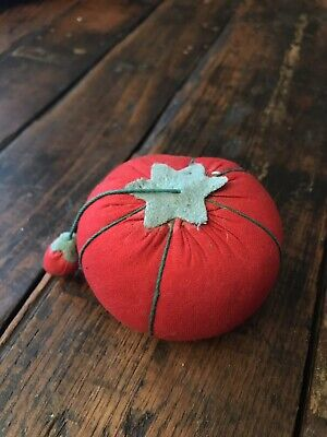 Vintage Pincushion Tomato w/Strawberry Korea-3083