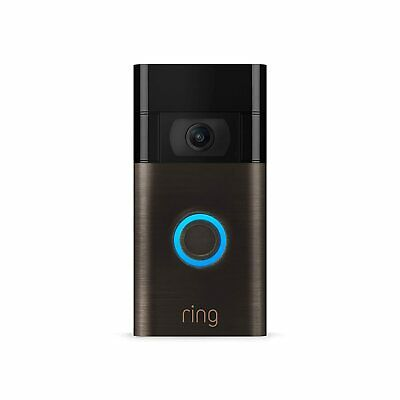 Ring Wi-Fi Enabled Video Doorbell in Venetian Bronze, Works with Alexa BRAND NEW