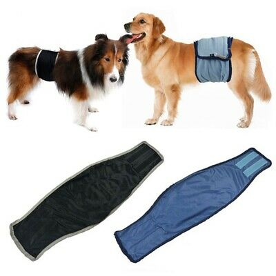 Puppy BELLY BAND Dog Diaper Male For SMALL / LARGE Breeds Reusable Pant XS/XL