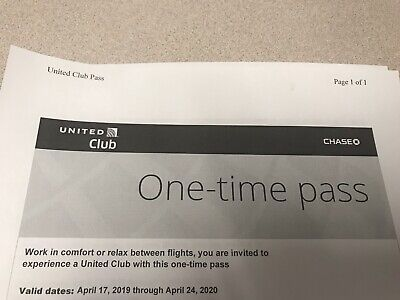 UNITED CLUB PASS- (Two) 2 Passes Mail Delivery
