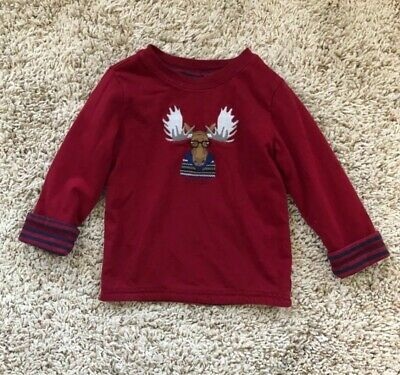 Janie And Jack Reversible Moose Shirt. Size 2T