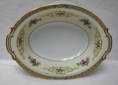 """NORITAKE china COLBY BLUE 5032 pattern Oval Vegetable Serving Bowl - 10-1/2"""""""