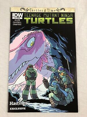 TMNT Turtles in Time Comic #1 (IDW, June 2014, Hastings Exclusive Variant Cover)