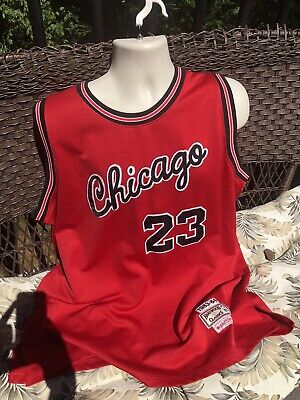Chicago Bulls 83-84 Rookie Michael Jordan #23 Mens Red Throwback Vtg Jersey
