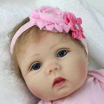 "22""Reborn Baby Doll Realistic Silicone Vinyl Girl Dolls Birthday Gifts Kid Toys"