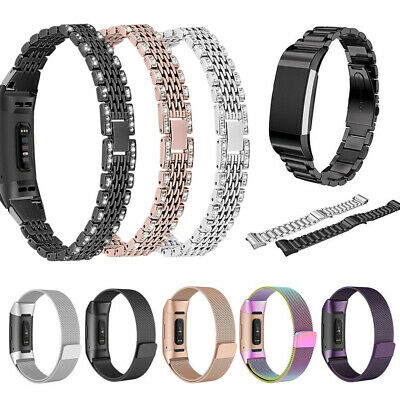 For Fitbit Charge 3 Stainless Steel Milanese Loop Watch Band Metal Wrist Strap