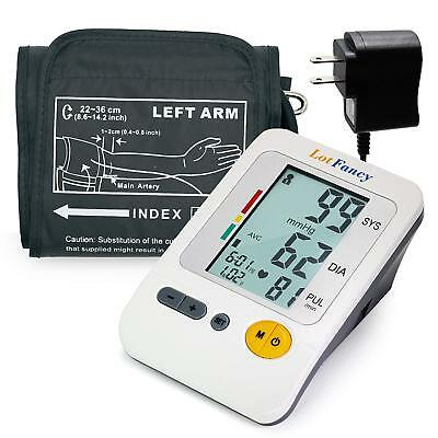 LotFancy Arm Blood Pressure Monitor BP Cuff Heart Rate Machine Sphygmomanometer