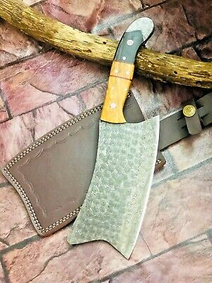 MH Knives Heavy Duty Damascus Chef Handmade Knife Meat Cleaver Butcher Chopper