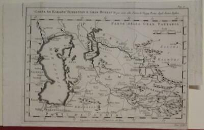Caspian Aral Seas Russia Uzbekistan 1760 Bellin Rare Italian Edition Antique Map