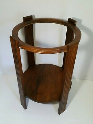 Vintage Round Wood Wash Basin Stand/Base (no bowl) - Empire Mission Style