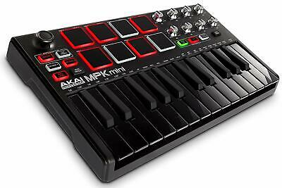 New AKAI Professional USB MIDI Keyboard Controller MPK Mini MK2 Black from japan