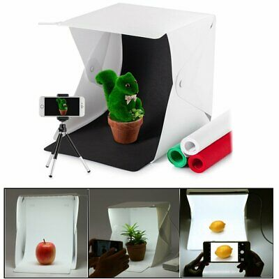 Portable Camera Photo Studio Lighting Box Photography 4 Backdrops LED Ligh