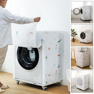Washing Machine Cover Dustproof Waterproof Printed Protective Decoration Plastic