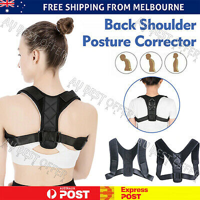 Adjustable Posture Corrector Upper Back Shoulder Support Brace Belt Strap