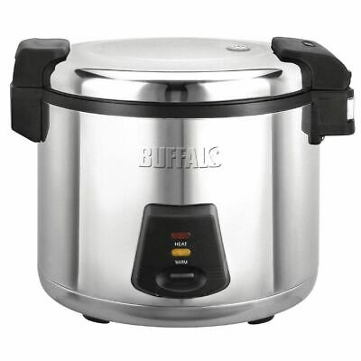 Buffalo Electric Rice Cooker with Non Stick Bowl 6L 1.95kW - 345x460x400mm