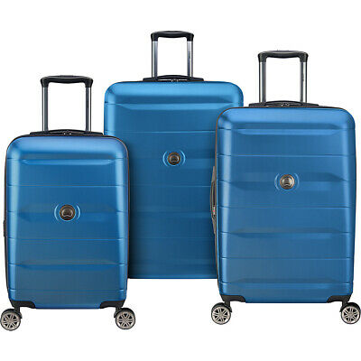 Delsey Comete 2.0 3 Piece Expandable Hardside Spinner Luggage Set NEW