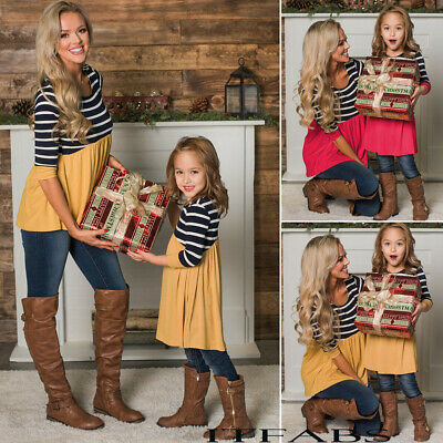 Mother and Daughter Clothes Parent-child Boho Maxi Dress Family Matching Outfits