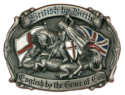 'British By Birth - English By The Grace of God' Belt Buckle