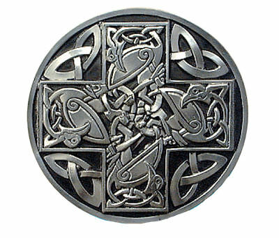 Celtic Cross Belt Buckle - Black